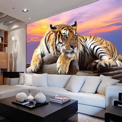 coola tapeter tiger fototapet djur d fondtapet häftig tapet ungdomsrum