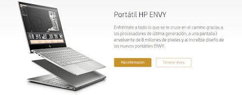 Mejores ofertas cupón exclusivo -20% adicional en gama Envy de la HP Store