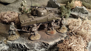 Terrain and Sherman Tank