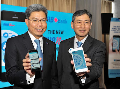 Source: RHB. From left: Dato' Khairussaleh Ramli, Group Managing Director for RHB Banking Group and U Chen Hock, Executive Director, Group Retail Banking for RHB Banking Group at the official launch of the new RHB Now Mobile Banking App.