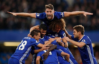 Chelsea teammates celebration