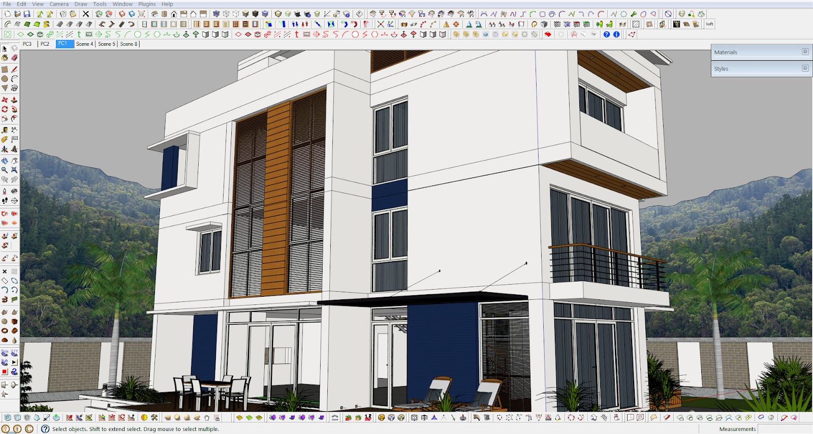 Sketchup Exterior Scene With Vray Settings 4render The Best Source Of Free Render Softwares