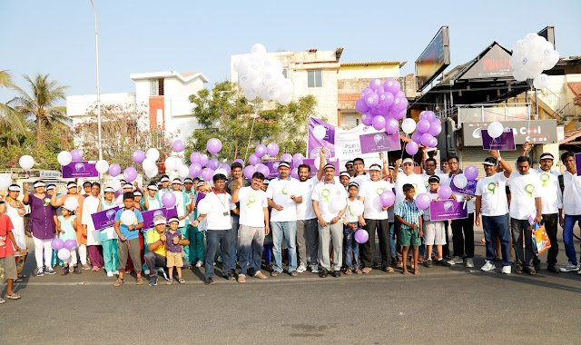 """PURPLE DAY"" WALKATHON ORGANIZED BY FORTIS COMPREHENSIVE EPILEPSY CENTER"