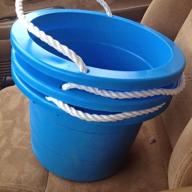 Vinyl, organization, dollar store, plastic buckets