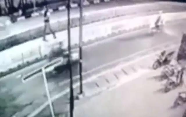 Detik-detik Penembakan Letkol Dono Terekam CCTV