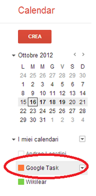 "Google Task in ""I miei calendari"""