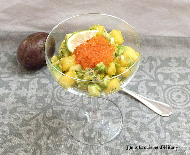 Salade fraîcheur avocat, crabe, mangue et sa vinaigrette passion