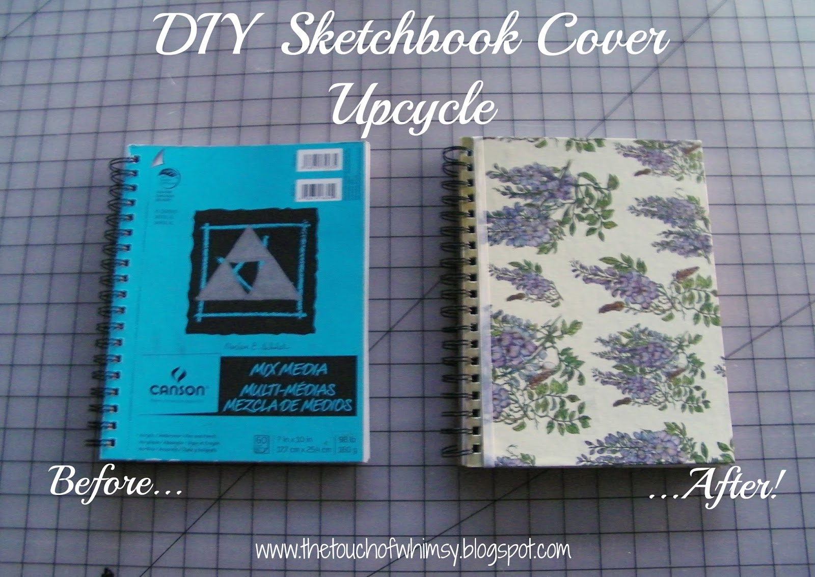 Diy Sketchbook Cover : The touch of whimsy diy sketchbook cover upcycle