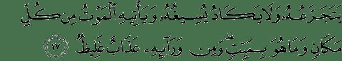 Surat Ibrahim Ayat 17