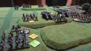 German reinforcements arrive on the field