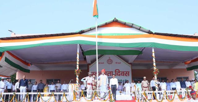 Education Minister Ram Bilas Sharma did the flag flagged by Rohana, Gandhi Seva Ashram in Palwal.