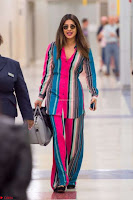 Priyanka Chopra in Colorful Jumpsuit arriving at JFK Airport New York 18 June 2017 ~  Exclusive 028.jpg