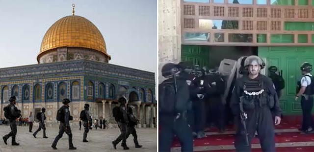 Al Aqsa Diserang Lagi, Tentara Israel Masuk Masjid Pakai Sepatu