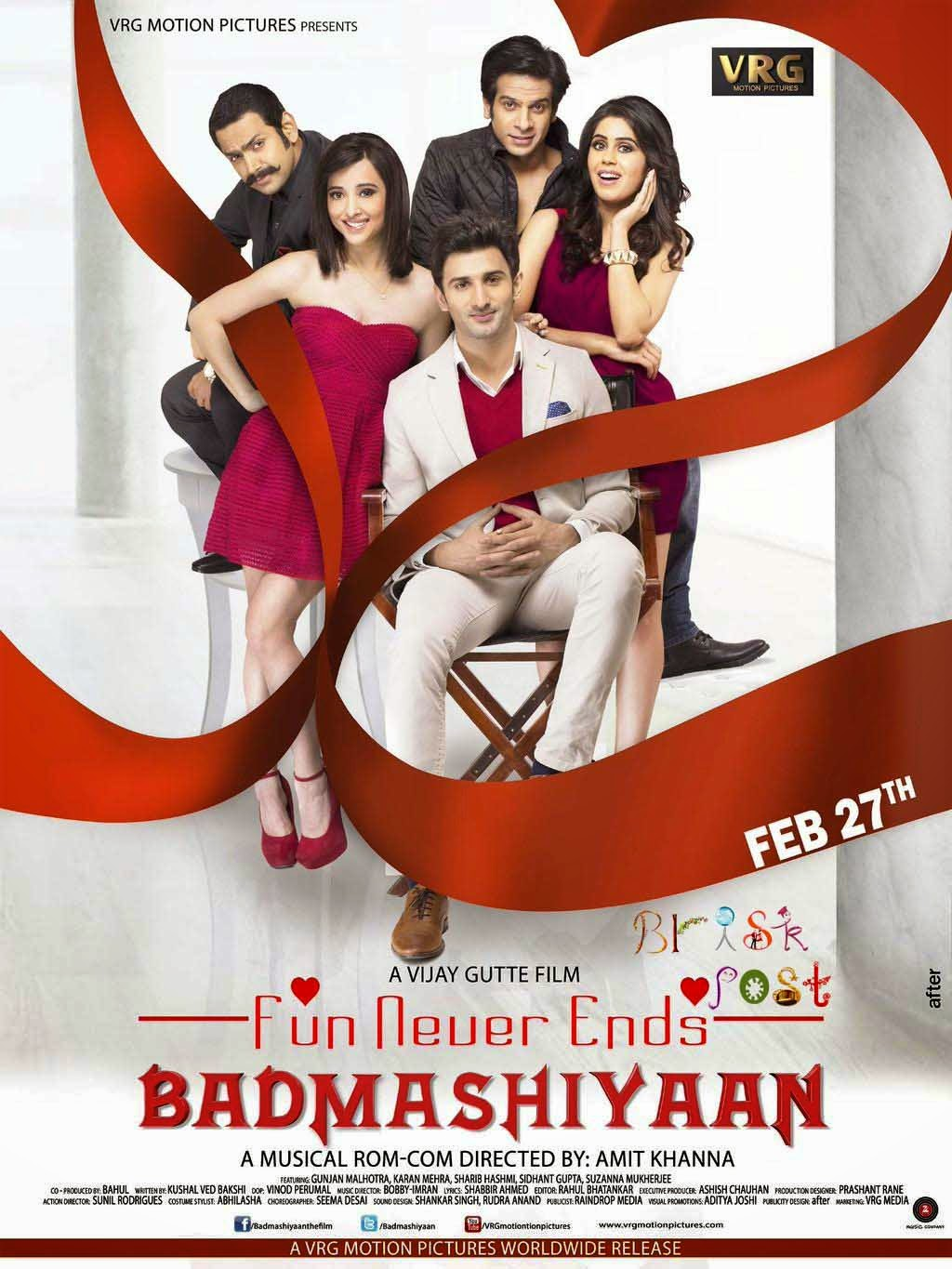 Badmashiyaan movie poster features the star cast