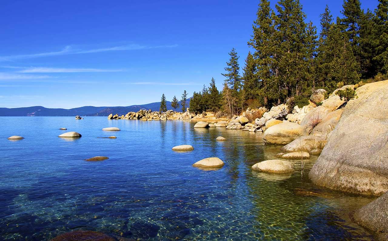 Lago Tahoe Calif 243 Rnia Nevada Lugares Fant 225 Sticos