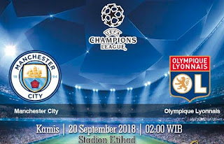 Prediksi Manchester City Vs Olympique Lyonnais 20 September 2018