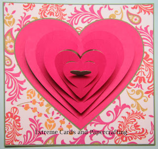 valentine pop up card front