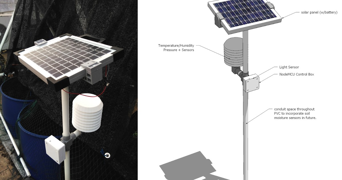 Progressth d printed iot weather station prototype in