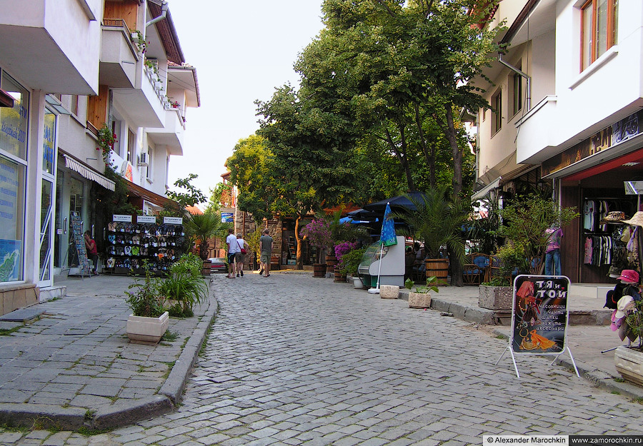 Улицы Созополя   The streets of the town of Sozopol