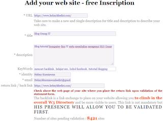 Mendapatkan backlink dari w3 directory2