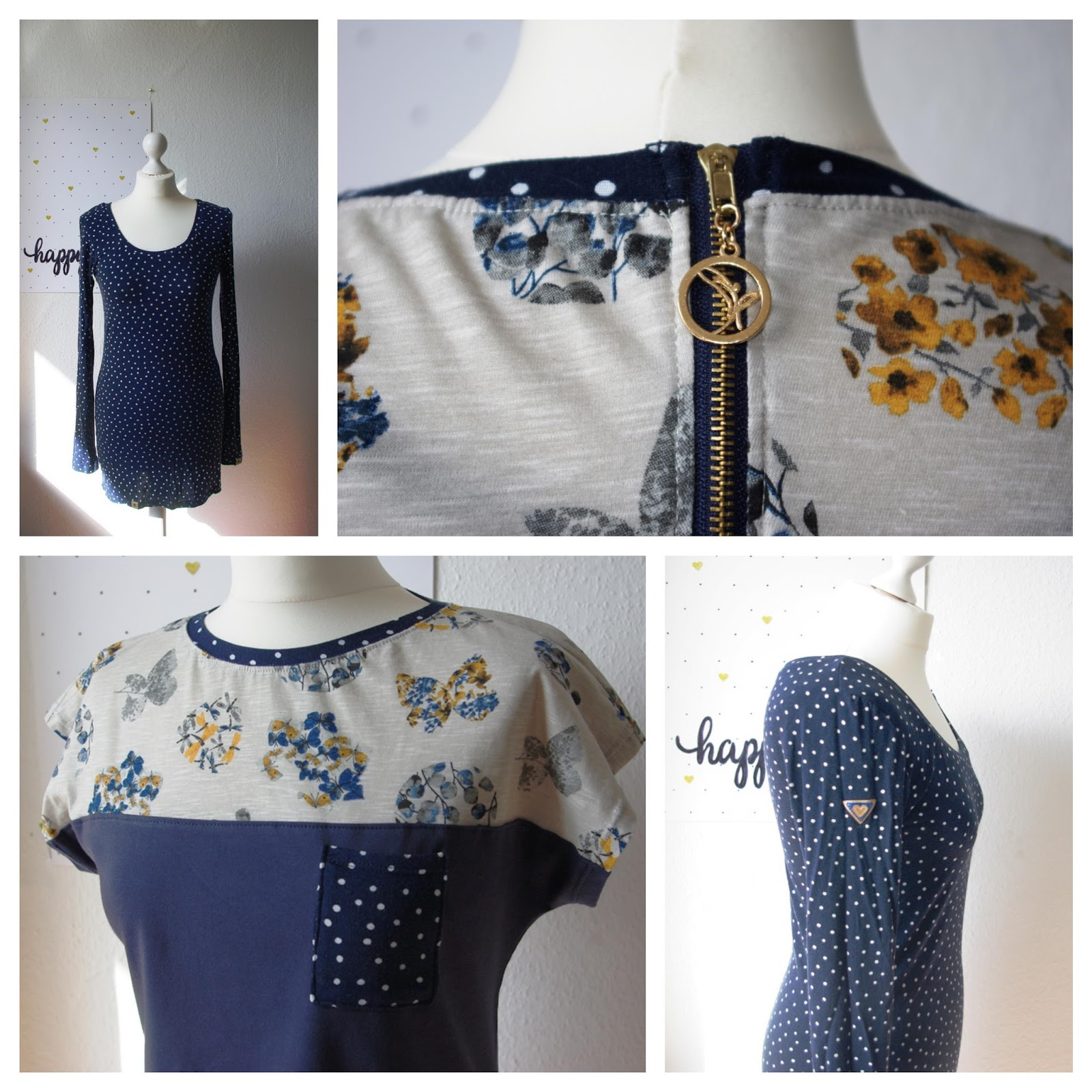 Lagenlook: Kimono Tee von MariaDenmark und Shirt Valerie von Makerist