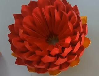 gấp giấy origami - hoa sen 1