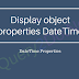 Display object properties DateTime