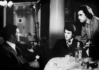Danova (left) with Harvey Keitel and Martin Scorcese on the set of the 1973 cult movie Mean Streets