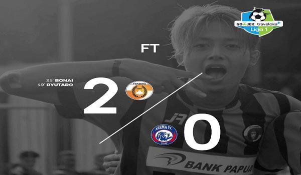 Perseru Serui Bekuk Arema FC dengan skor 2 Gol Tanpa Balas