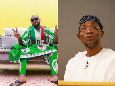 Davido and Rauf Aregbesola