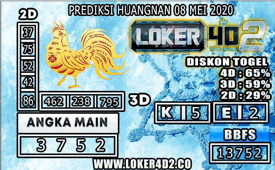 PREDIKSI TOGEL HUANGNAN LOKER4D2 08 MEI 2020