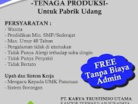 Lowongan Kerja Tenaga Produksi PT Karya Trustindo Utama