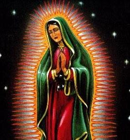 Imagen de la Virgen de Guadalupe uniendo las manos