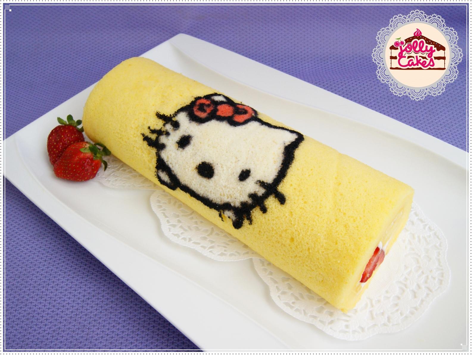 Strawberry Roll Cake Japanese Recipe: Jolly Cakes: Cartoon Character Japanese Roll Cake