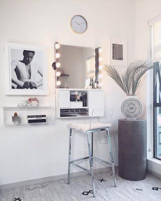 tocador moderno minimalista blanco tumblr