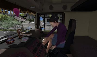 Animasi Penumpang Wanita dalam Truck 1.32