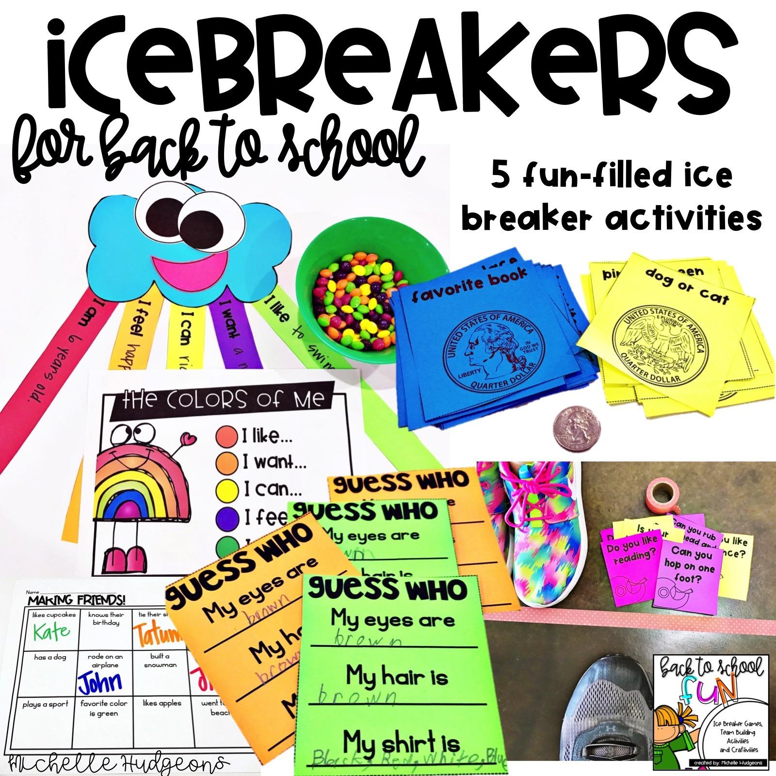 Back To School Icebreakers Plus A Freebie