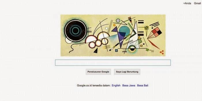 tema google doodle hari ini tentang wassily kandinsky