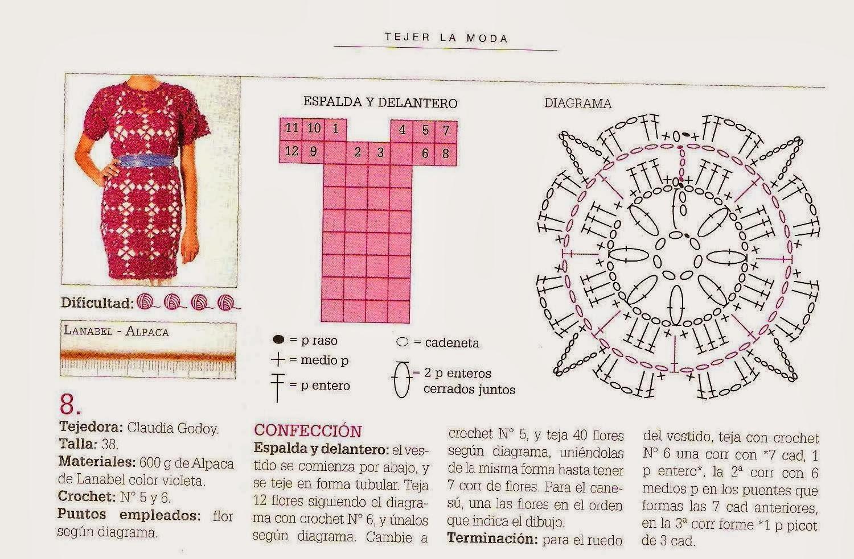 Patrones Crochet, Manualidades y Reciclado: 2 HERMOSOS VESTIDOS A ...