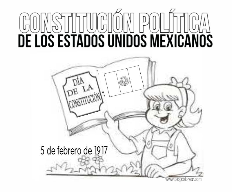 Dibujos Para Colorear De La Constitución Mexicana Colorear
