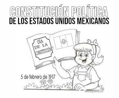 constitucion mexico colorear