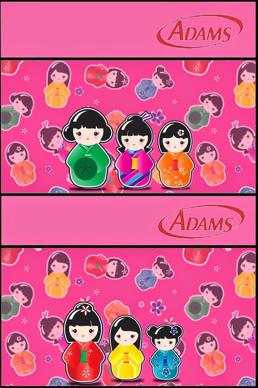 Etiqueta Golosina Adams para Imprimir Gratis de Matrioshkas.