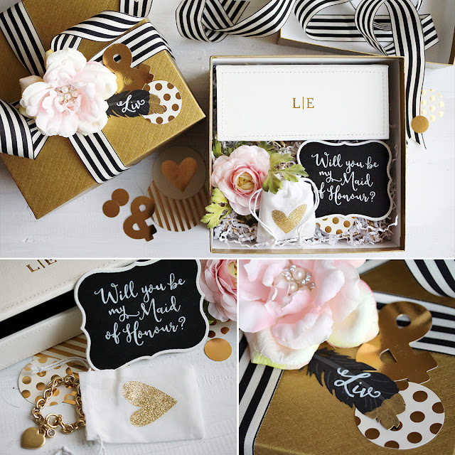 """Will you be my Maid of Honour"" proposal gift box inspiration"