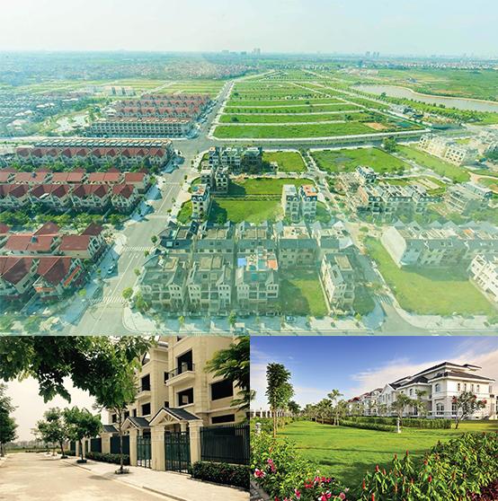 Dương Nội có nhiều không gian sống xanh, trong lành.