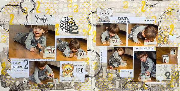 Layers of ink - Numbers and Circles Layout Tutorial by Anna-Karin