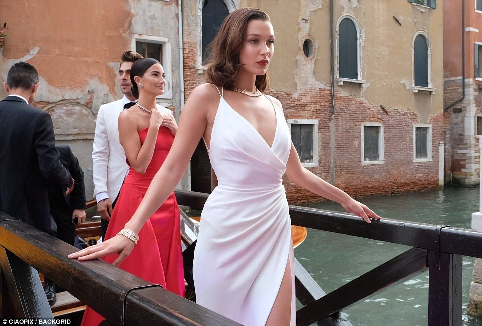 Bella Hadid bares skin and curves at the Bulgari bash in Venice
