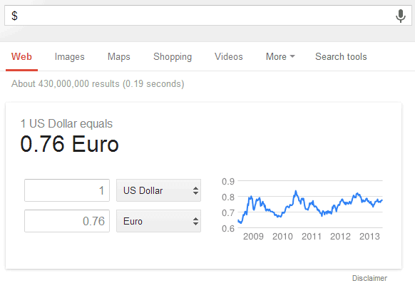 The Quickest Way To Convert A Currency Any Other Is Type Two Codes For Example You Can Search Gbpeur Gbp Eur Or
