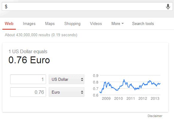 Further Information Euro - US-Dollar