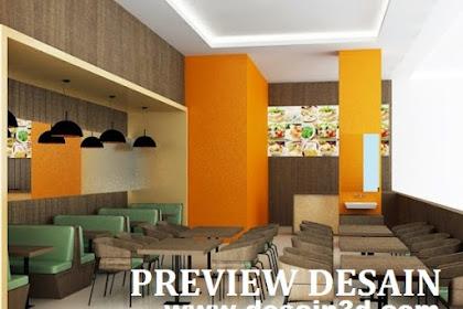 Jasa gambar online desain restoran cepat saji mall cafe