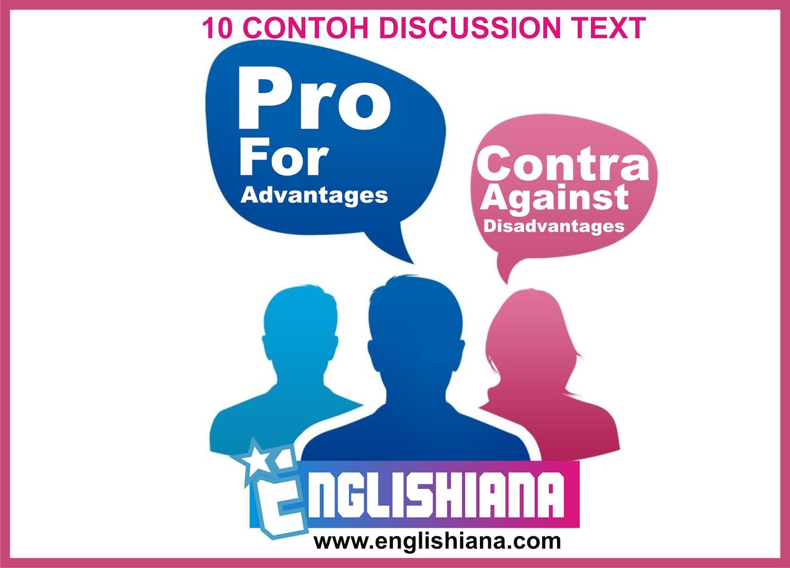 10 Contoh Discussion Text Dalam Bahasa Inggris Dan Terjemahannya